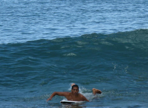 Body Boarding in Waikiki