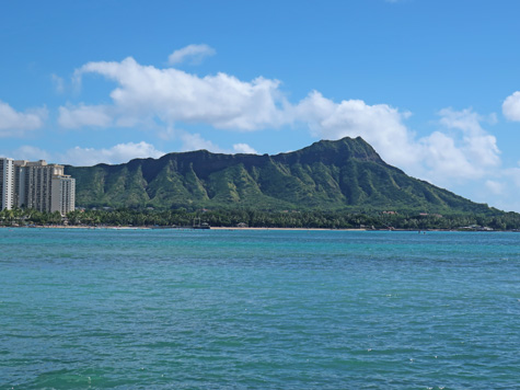 Diamond Head on the Island of Waikiki