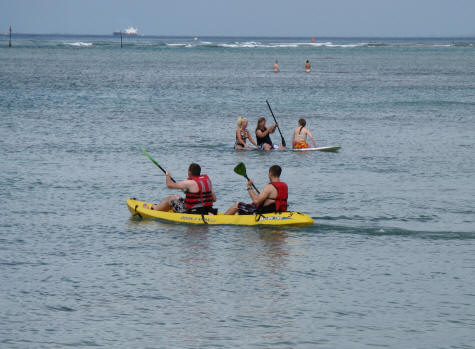 Ocean Kayaking in Wakiki
