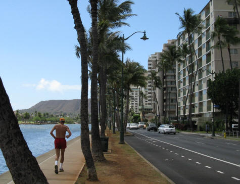 Running Trails in Waikiki Hawaii