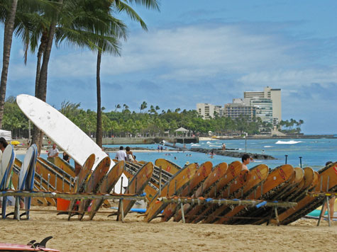 Beaches in Waikiki Hawaii and Region